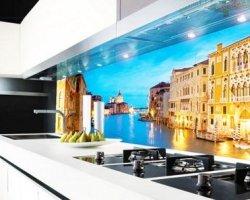 Скинали – стеклянные панели для кухни