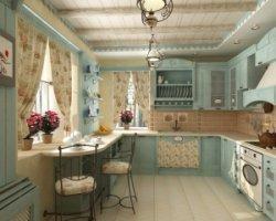 Дизайн маленькой кухни – тонкий флер Франции