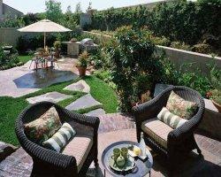 Ландшафтный дизайн своими руками – патио в саду
