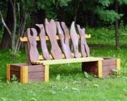 Как сделать хорошую скамейку на даче своими руками