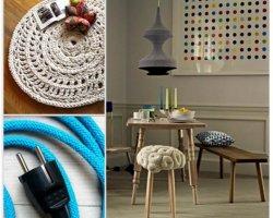 Вязаные вещи в интерьере дома