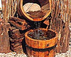 Декоративный фонтан своими руками — бездонная бочка
