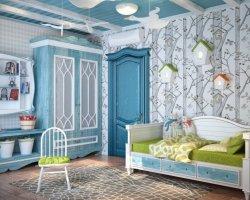 Детская комната в синих оттенках