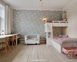 Интерьер детской комнаты из недорогих материалов