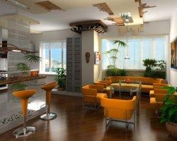 Дизайн интерьера молодежной квартиры студии