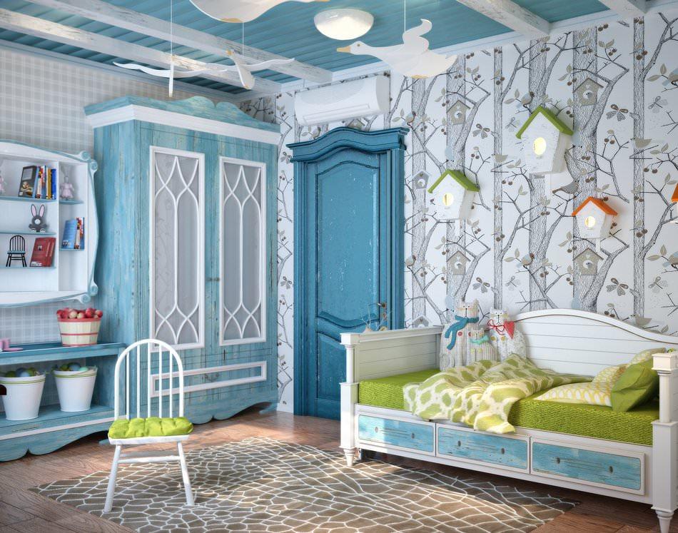 Детская комната в синих оттенках 1
